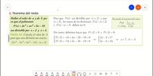 Aplicación del Teorema del Resto