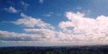 Panorámica de colinas verdes cerca de Wellington, Nueva Zelanda
