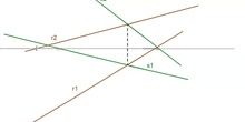 Plano definido por dos rectas que se cortan