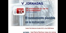 """Ponencia de D. Jose Mª Martinez López de Letona: """"El razonamiento plausible en la instrucción"""""""