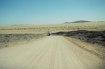 Pista de tierra, Namibia