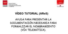Cómo aportar documentación en AReS
