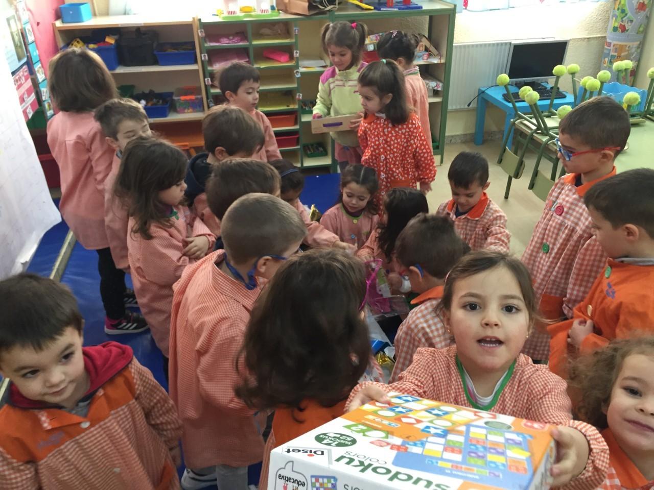 Visita Reyes aula 4