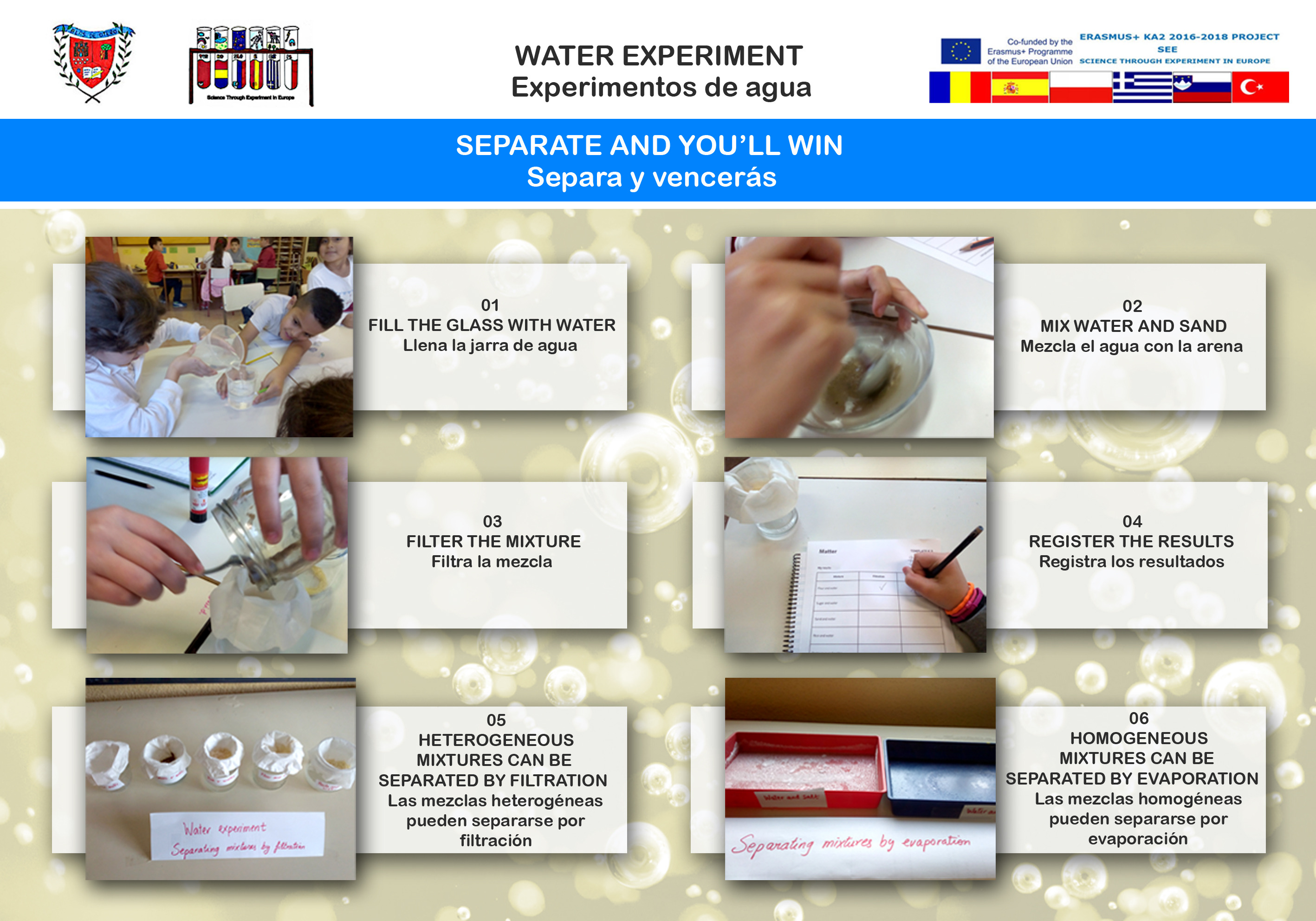Water experiment 04 Separate and you'll win