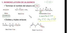 nomenclatura alquinos