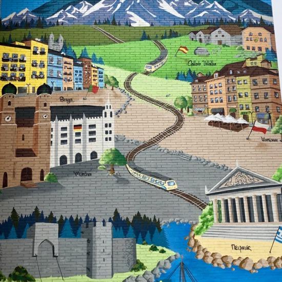 Fachada Mural proyecto Erasmus +