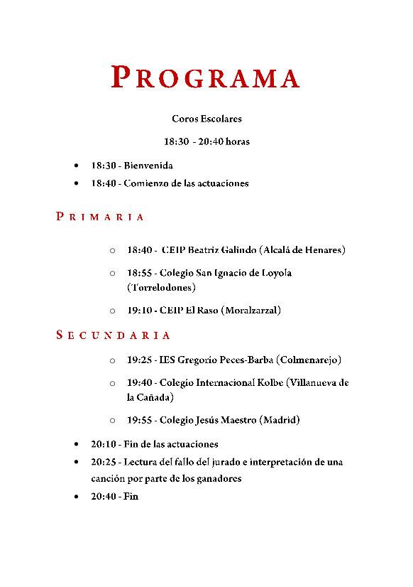 Acto de clausura del XIV Concurso de Coros Escolares de la Comunidad de Madrid 24