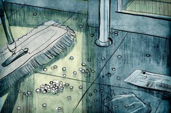 La pella: Barriendo pastillas
