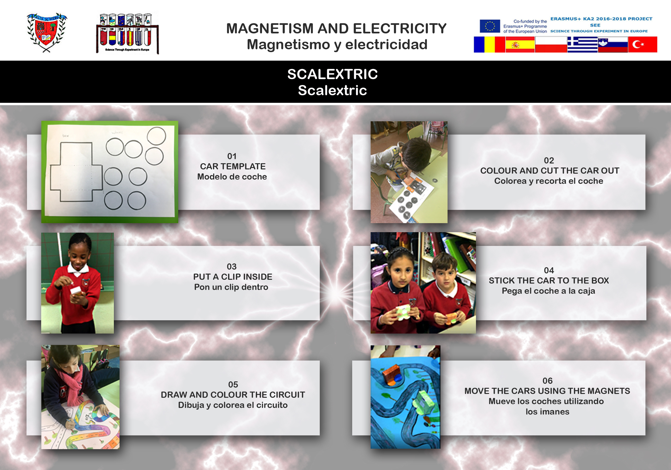 Magnetism and electricity experiment 01 Scalextric