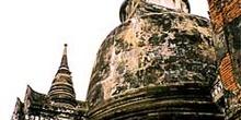 Detalle de templo en Ayutthaya, Tailandia