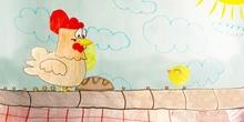 Une poule sur un mur - CEIP El Peralejo