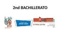 PJP PRESENTACION 2º BACHILLERATO ENGLISH
