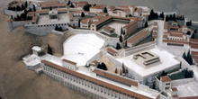 Maqueta de la Acrópolis de Pérgamo, Turquía