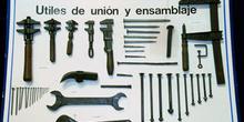 Construcción de una embarcación: útiles de unión y ensamblaje, M