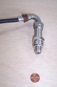 Bujía con conexión eléctrica roscada