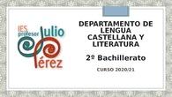 Presentación de Inicio de Curso - Lengua - 2º Bachillerato