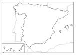 Mapa de España en blanco