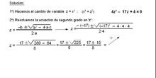Álgebra: 14.Bicuadradas