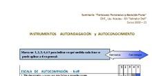 Instrumentos Autoindagación y Autoconocimiento. Seminario Atención Plena y Fortalezas personales. Curso 2020-21