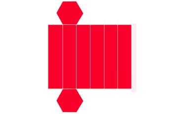 Desarrollo de un prisma hexagonal