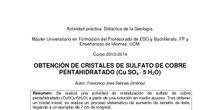 OBTENCIÓN DE GRANDES CRISTALES DE SULFATO DE COBRE