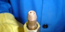 Electrodo de cobre para soldadura de remaches