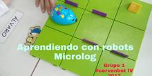 """#cervanbot 2017: """"Aprendiendo con robots"""" con Microlog. Grupo 1 (grabaciones realizadas por alumn@s)"""