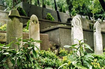 Cementerio hacia Eyüp, Estambul, Turquía