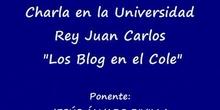 """COLEGIO JESÚS VARELA / \""""Charla URJC sobre los blog 2ª Parte\"""""""