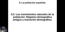 0802 Modelo demográfico antiguo y transición demográfica en España.