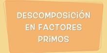 Descomposición factorial (6º Primaria)
