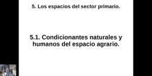 0501 Los condicionantes del medio rural español