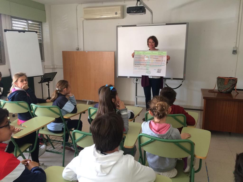 2019_02_19_Entrega cheque Mercadillo Solidario 2019_CEIP FDLR_Las Rozas 2