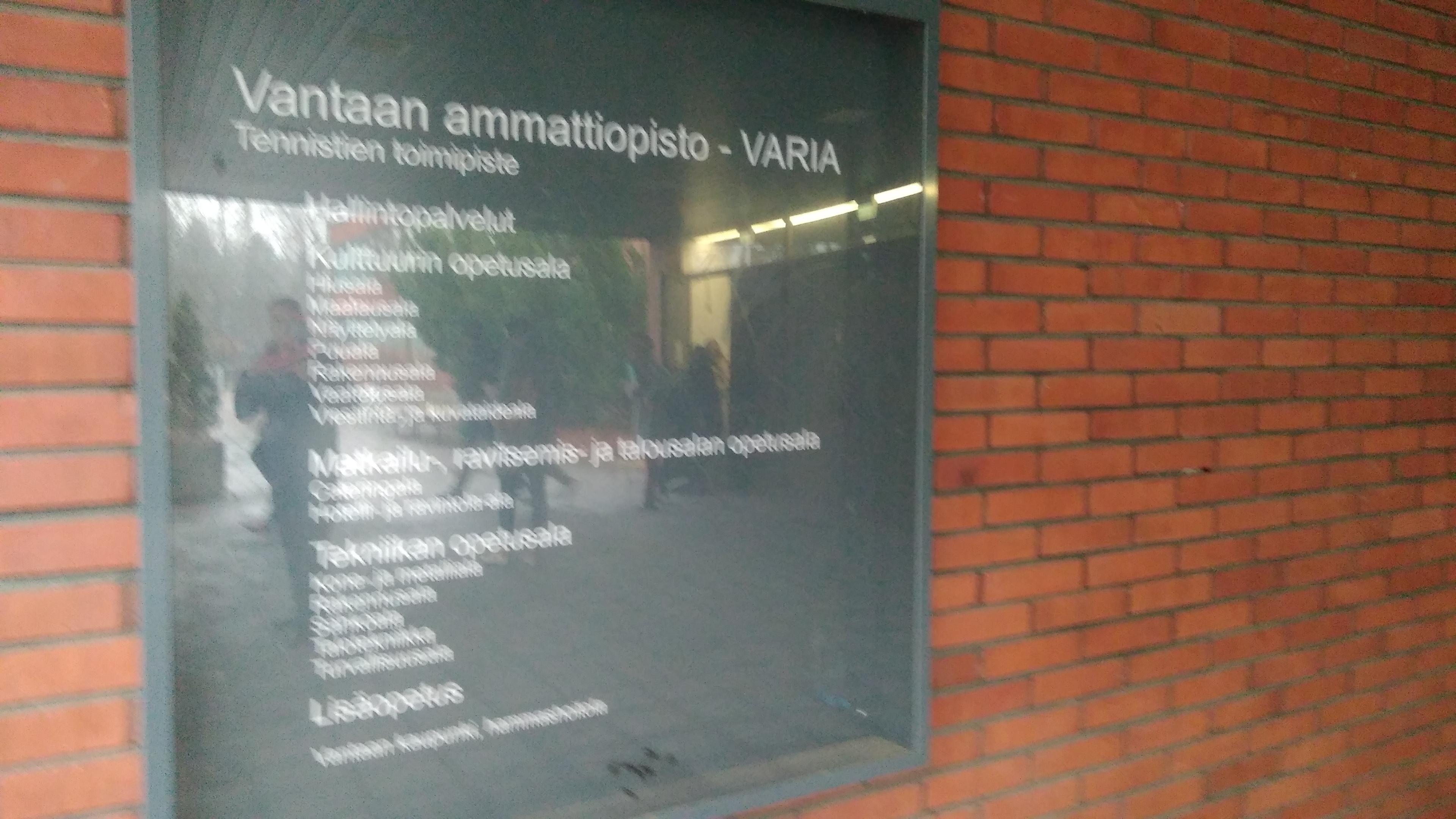 Vataan Ammattiopisto Varia. Finlandia. Erasmus +2018 12