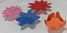 Creamos flores de papel