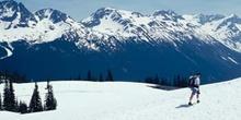Montañero en Whistler, Columbia Británica (Canadá)