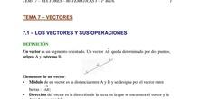 Primero de bachillerato ciencias naturales_tema 7 de vectores_ explicación teoría_parte 1