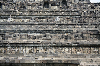 Vista de los distintos niveles, Templo Borobudur, Jogyakarta, In