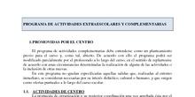 Programa actividades extraescolares