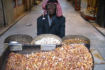 Vendedor callejero de frutos secos