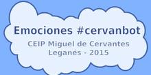 Emociones #cervanbot en la Semana Cultural Tecno-robótica del CEIP Miguel de Cervantes de Leganés