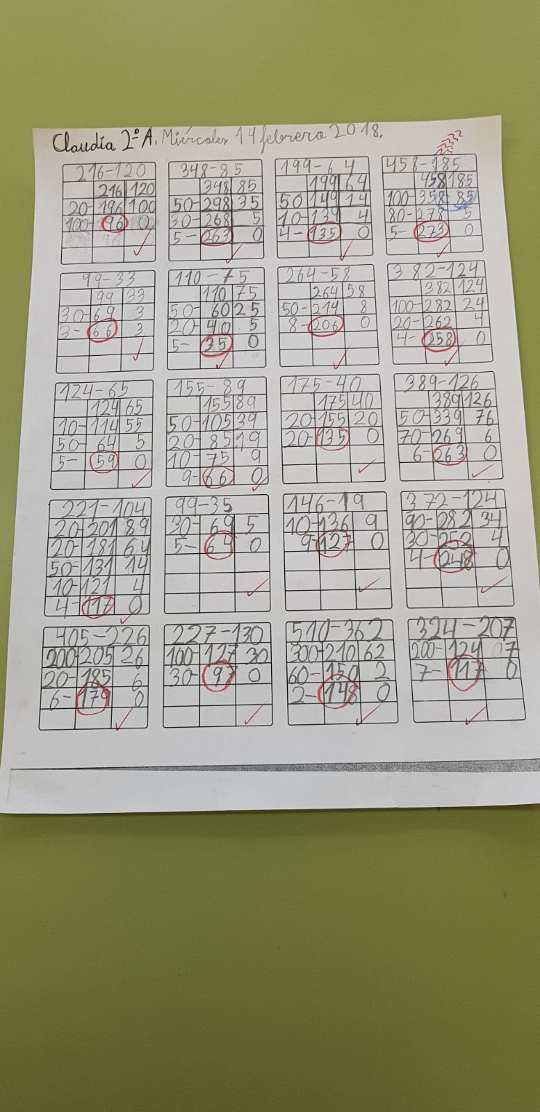Algoritmos ABN para sumas y restas 2