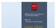 Repertorio de textos dramáticos XXVII Certamen Teatro Escolar Siglo de Oro