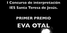 I Certamen de Interpretación. Primer premio EVA OTAL.