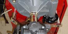 Alineador de dirección. Vista superior del conjunto de rueda