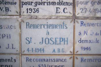 Placas de agradecimiento, Catedral, Túnez