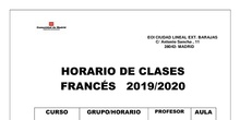 horario francés 2019