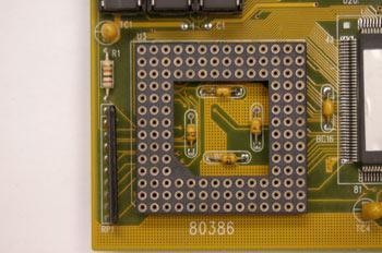 Zócalo para microprocesador tipo NO ZIF