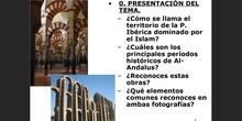 1. Rasgos Arte Islámico; 2 Arquitectura islámica; 3. Artes plásticas
