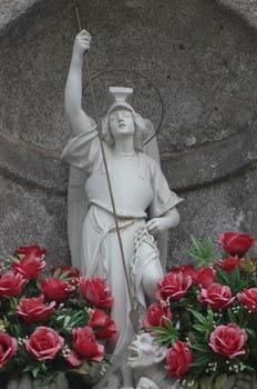 Imagen de San Miguel Arcángel en la Fuente de los Caños, Guadarr